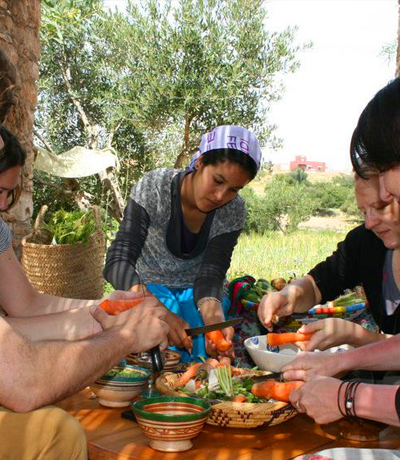 Cooking classes in desert